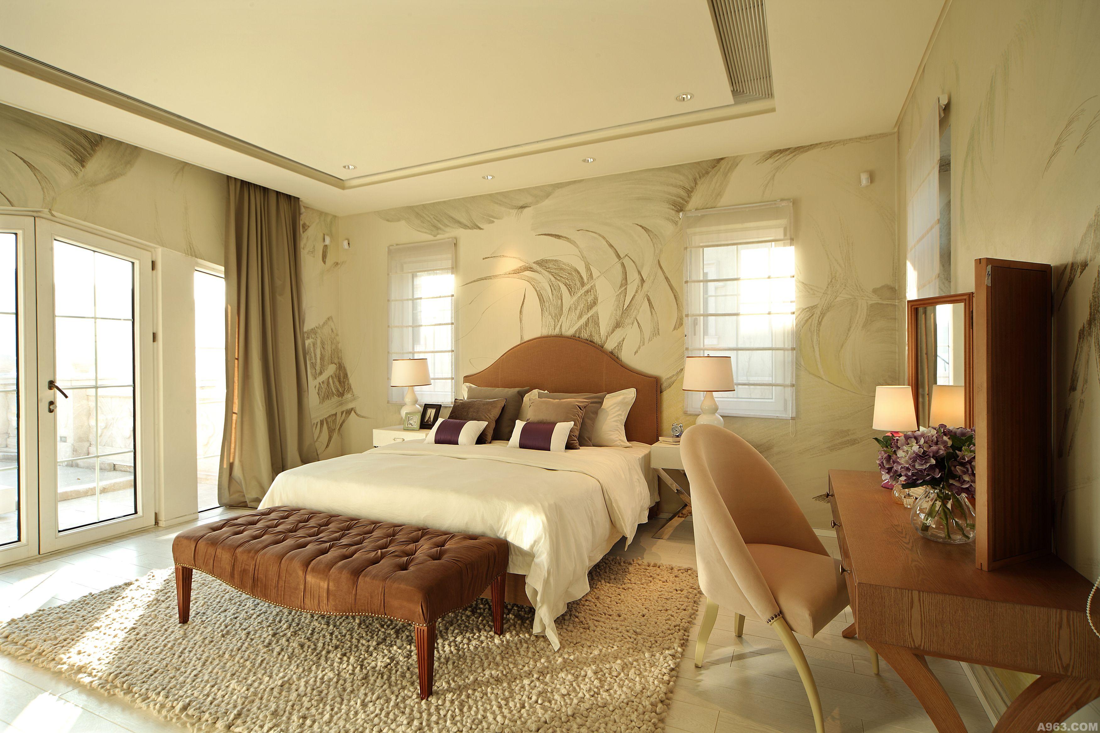 背景墙 房间 家居 酒店 起居室 设计 卧室 卧室装修 现代 装修 3500